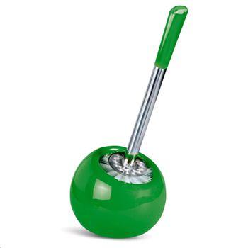 купить Гарнитур для туалета. Глазурованная керамика/нержавеющая сталь. Цвет: зеленый 15050 в Кишинёве