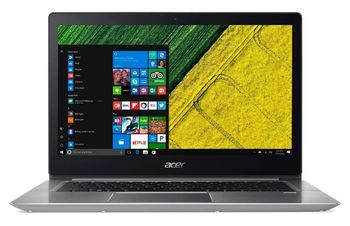 "ACER Swift 3 Sparkly Silver (NX.GZ9EU.015), 14.0"" IPS FullHD (Intel® Core™ i3-8130U 3.40GHz (Kaby Lake), 8Gb (1x8) DDR4 RAM, 256Gb SSD, Intel® UHD Graphics 620, CardReader, WiFi-AC/BT, FPR, Backlit KB, 4cell, HD Webcam, RUS, Linux, 1.6kg, 18mm)"