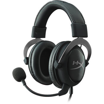Kingston HyperX Cloud II Headset, Metal, Solid aluminium build, Microphone: detachable, USB Surround Sound 7.1, Frequency response: 15Hz–25,000 Hz, Cable length:1m+2m extension, 3.5 jack, Pure Hi-Fi capable, Braided cable, Durable travel pouch