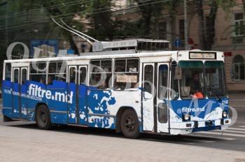 cumpără Brandingul complet al troleibuzului în Chișinău