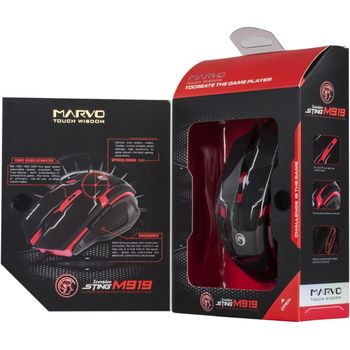 Mouse Marvo M319 Gaming, Black/Red
