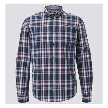 Рубашка TOM TAILOR Синий в клетку 1021132 24648