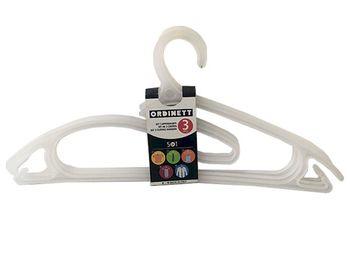 Набор вешалок 5in1 3шт 42cm, пластик, черные/белые