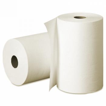 Бумажные полотенца белые 2 слоя 150 м