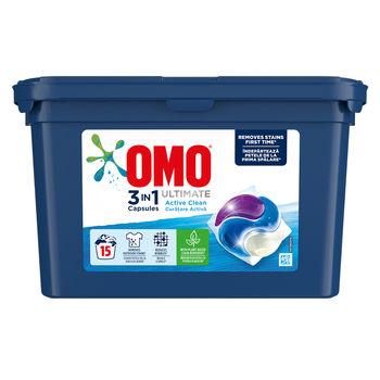 купить Omo Ultimate Trio Capsule Active Clean, 15 шт. в Кишинёве