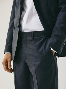Брюки Massimo Dutti Темно серый 0070/321/801