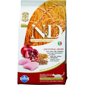 купить N&D Low Grain Cat Chicken & Pomegranate Neutered в Кишинёве