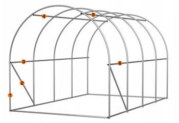 Теплица 8x3x2,5м