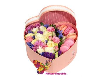купить Маленькое сердце с весенними цветами в Кишинёве