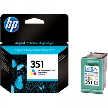 HP No.351 Tri-Colour Ink Cartridge Vivera (3.5ml)