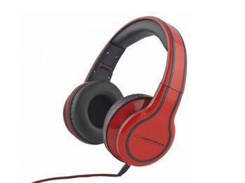 """Esperanza EH136R """"BLUES"""" Red, Stereo audio Headphones with Volume control, 5 m cable lenght"""