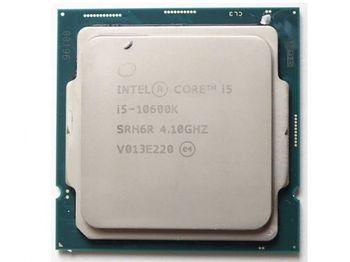Процессор Intel Core i5-10600K 4,1–4,8 ГГц (6C / 12T, 12 МБ, S1200,14 нм, встроенная графика UHD Graphics 630, 95 Вт) Лоток