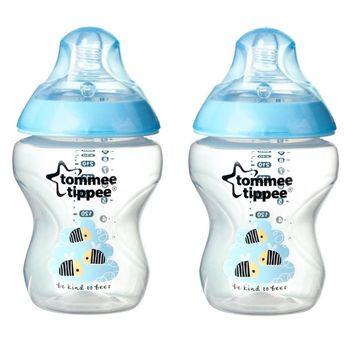 купить Tommee Tippee бутылочка пластиковая с рисунком Blue, 0+мес. 260мл. 2шт в Кишинёве