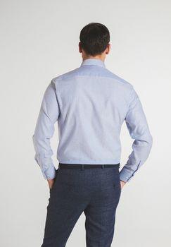 Рубашка ETERNA Белый в голубую полоску