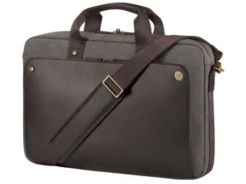 """HP NB bag 15.6"""" - Executive Top Load;  lockable, double-teeth zippered notebook compartment, top zip closure and exterior pocket with easy access; Brown"""