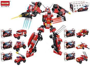 Конструктор HSANHE Робот-машина, 21.6X15.2X5cm, 6 видов (кра
