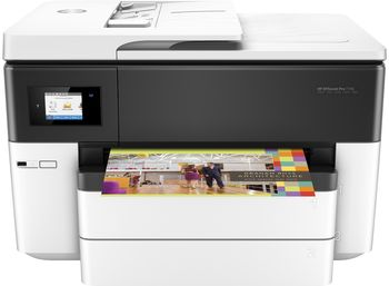 HP OfficeJet Pro 7740 Wide A3+ AiO Print/Copy/Scan/Fax, up to 34ppm, 4800x1200dpi, Duplex, 512MB Memory, 6,75 cm Touch LCD, up to 30000 pages, 35 pages ADF, USB 2.0, WiFi 802.11b/g/n, Ethernet, RJ-11, ePrint,  AirPrint™ (#952/XL B/C/M/Y Cartridge)