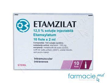 cumpără Etamsilat sol. inj. 12,5% 2 ml N10 în Chișinău