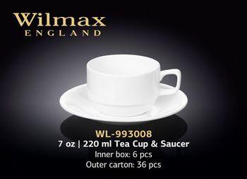 Чашка WILMAX WL-993008 AB (с блюдцем 220 мл)