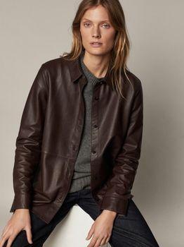 Блуза Massimo Dutti Тёмно-коричневый 4722/922/724