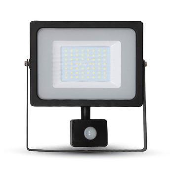 купить 5839 Прожектор LED 50W  Сенсор 6400K negru в Кишинёве