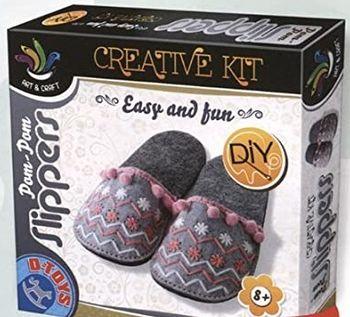 Набор для творчества POM-POM Slippers домашние тапочки, код 41295