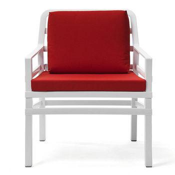 Кресло с подушками Nardi ARIA BIANCO cherry 40330.00.065.065 (Кресло с подушками для сада и терас)