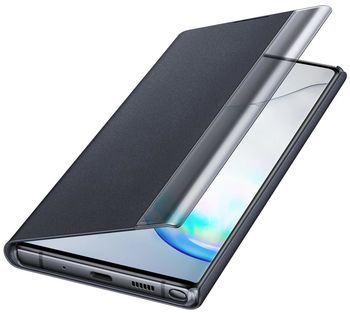 купить Чехол для моб.устройства Samsung Galaxy Note 10 Plus ,EF-ZN975 Clear View Cover Black в Кишинёве