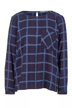 Блуза TOM TAILOR Темно синий в клетку