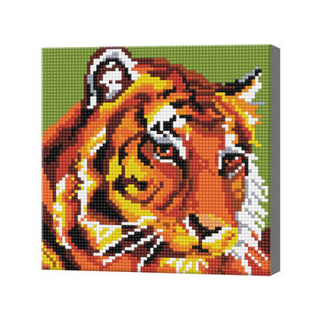 Тигр, 20x20 см, алмазная мозаика