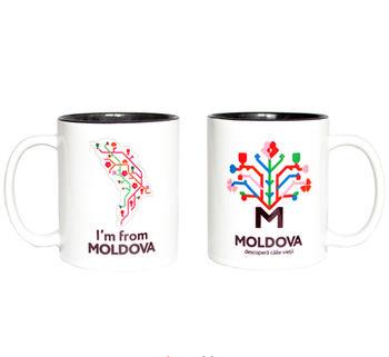купить Кружка в черном оформлении – I'm from Moldova в Кишинёве