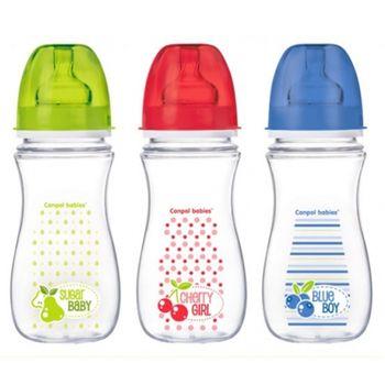 купить Canpol бутылочка пластиковая с широким горлышком, 240мл в Кишинёве