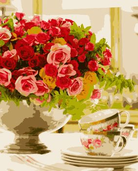 """Картина по номерам 40x50 Artissimo """"Розовое настроение"""""""
