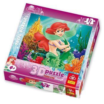 """Trefl Пазлы 3D """"Подводная принцесса / Принцессы Диснея """" ( 72 шт)"""