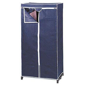 купить Шкаф тканевый синий 75х50х150 см 116701 в Кишинёве