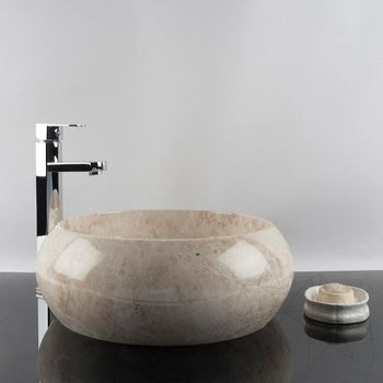 купить Раковина для ванной Мрамор Капучино RS-21, 41 x 33,5 x 16 см в Кишинёве