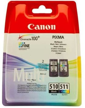 Multi Pack Ink Cartridge Canon PG-510 & CL-511 for MP230/240/250/260/270/280/490/495