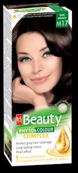 Vopsea p/u păr, SOLVEX MM Beauty, 125 ml., M17 - Șaten închis