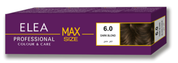 Краска для волос,SOLVEX Elea Max, 100 мл., 6.0 - Тёмно-русый