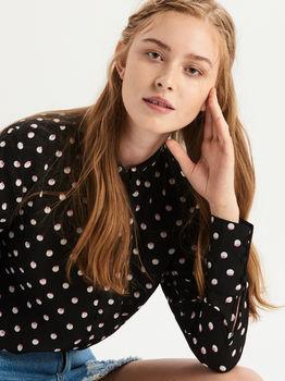 Блуза Sinsay Чёрный в горошек