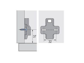 Plăcuță Intermat cu Șurub 1,5 mm