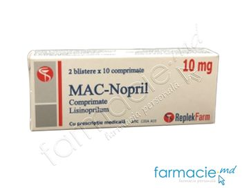 купить MAC-Nopril comp.10 mg N10x2 ( Lisinoprilum) в Кишинёве