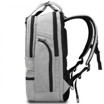 """купить Городской pюкзак Tigernu T-B3243 для ноутбука 15.6"""", водонепроницаемый, с USB портом, серый в Кишинёве"""
