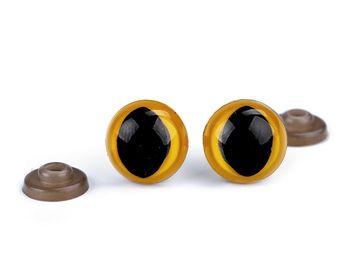 Ochi de pisică cu dispozitiv de siguranță, Ø14 mm / chihlimbar deschis