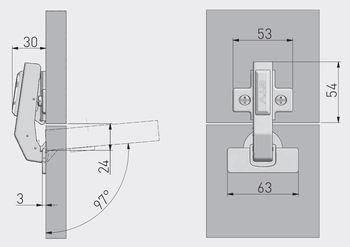 Balama 90° cu amortizor GTV