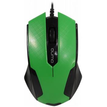 купить Mouse Qumo M14, Optical,1000 dpi, 3 buttons, Ambidextrous, Green, USB в Кишинёве