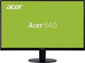 "27.0"" ACER IPS LED SA270BID ZeroFrame Black (4ms, 100M:1, 250cd, 1920x1080, 178°/178°, DVI, HDMI, Audio Line) [UM.HS0EE.001]"