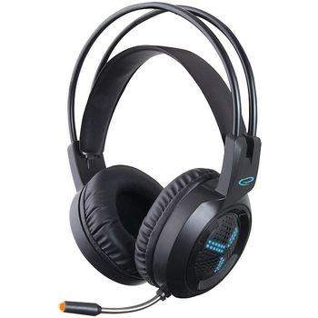купить Headset Gaming Esperanza ASGARD EGH410, Blue LED backlight, 1x mini jack 3.5mm + 1x USB 2.0, Drivers 40mm, Volume control, Cable length 2m, Weight 290g в Кишинёве