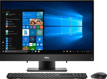 """AIl-in-One PC - 23.8"""" DELL Inspiron 5477 FHD IPS Infinity non-Touch, Intel® Core® i3-8100T up to 3.1GHz, 8GB DDR4, 1TB HDD, Intel® UHD 630 Graphics, USB-C, Articulating Stand, FHD cam, Wi-Fi-AC/BT4.1, KM636 Wireless KB&MS, Win 10 Pro, Black"""