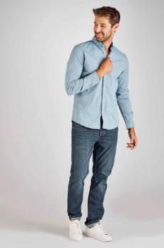 Рубашка TOM TAILOR Светло синий с принтом 1015857 tom tailor